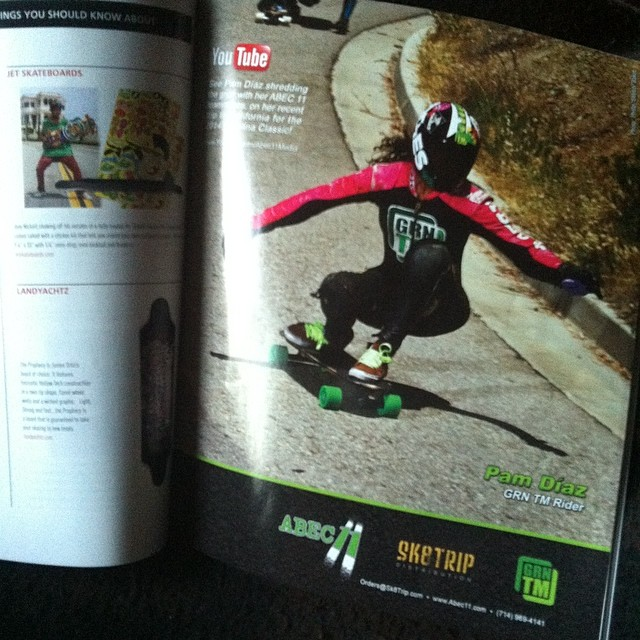 The new @concretewavemag smells like fruit loops and keylime with our chika @pamdiazz in this @abec11wheels ad!