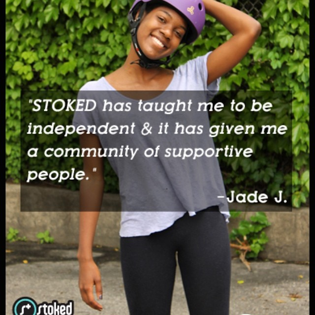 Let's continue to build up our students to be strong, independent, and successful adults like Jade! Join our community of #STOKEDIgniters at  stoked.org/igniters #america #ourfuture #youth #afterschool #students #growing #skateboarding #surfing #education