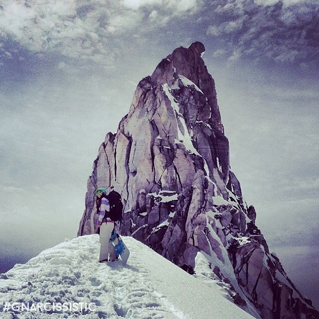 Illumination Rock on Mt. Hood's West side. Congrats to @oosunnyd for conquering one of the hardest routes in the PAC Northwest. Beauty Shot. #mountaineer #snowboard #splitboard #tour #ski #awesome #GNARCISSISTIC