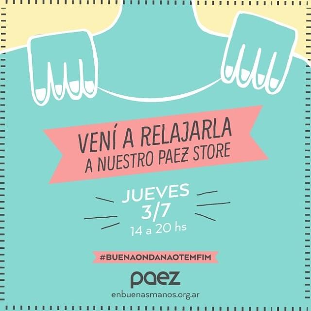 Un estrés mundial? Mañana masajes en nuestro #PaezStore para llegar relajados al sábado!  #wecelebrate #VamosArgentina  Av Santa Fe 1699 (esq. Rodriguez Peña) Buenos Aires
