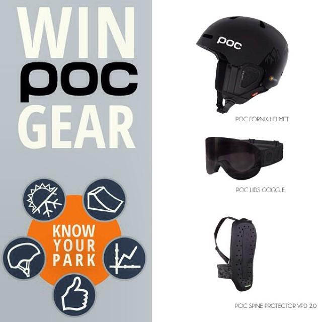 Winners from the #KnowYourPark Instagram Photo & Video Contest will receive a new @pocsports Fornix Helmet, Lid Goggle and Spine VPD 2.0 Back Protector ($480 Total Value). Be sure to tag #KnowYourPark with your best photos and videos that incorporate...