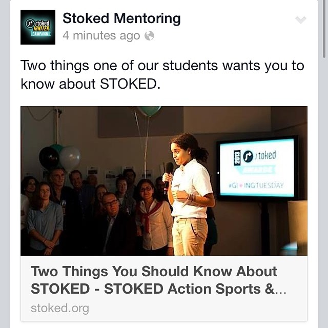 Head to stoked.org/blog to read two things one of our students wants you to know about STOKED. #Student #Wisdom #PersonalGrowth #NYC #STOKED