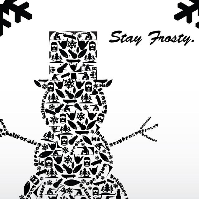 Poster by @drockyoursocks now on sale through www.frostyheadwear.com❄️#frostyheadwear #art #stayfrosty