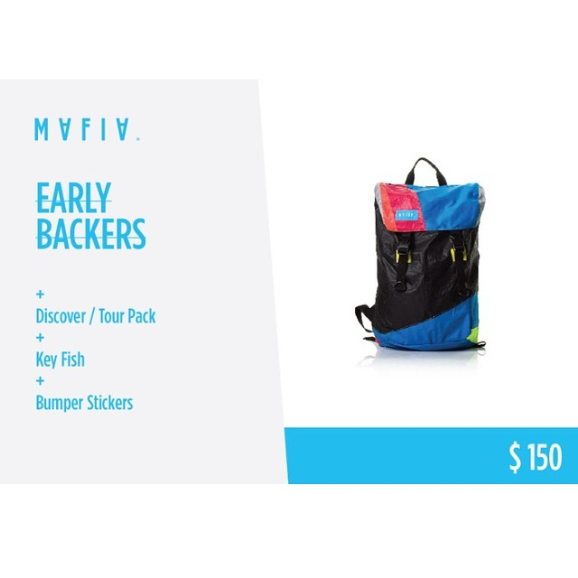 This is #live and #real. @kickstarter campaign . Be one of the #earlybackers and get a #discoverpack .  The kind of bag your #granny would not #like - MAFIA BAGS . @carryology @designmilk @coolhunting would you help us spreading the word?