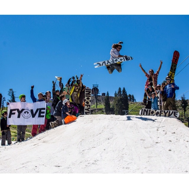 #Regram from @5fyve Week at @woodwardtahoe . What a blast! @colintahoe 's pretty method, seen here on the Fyve X iNi stick.