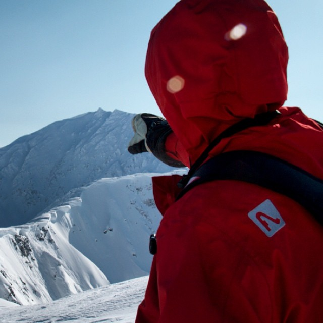 @lonesomepony scoping AK lines last spring. PC: @plumetunes