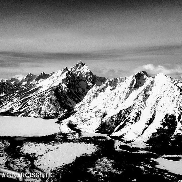 Tetons.  PC: @rmp_pbr307 Place: Jackson Hole, WY  #ski #tetons #jhdreaming #GNARCISSISTIC