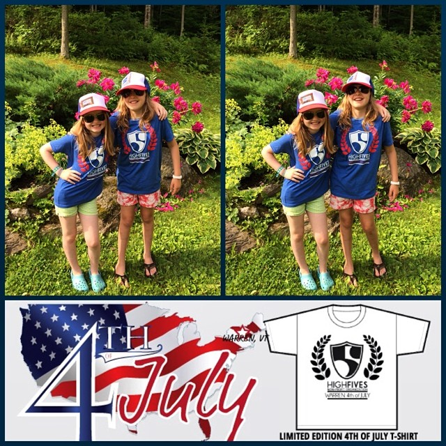 Be like the Murphy Girls, get yourself a limited edition 4th of July shirt at the Warren Parade tomorrow in Warren, VT