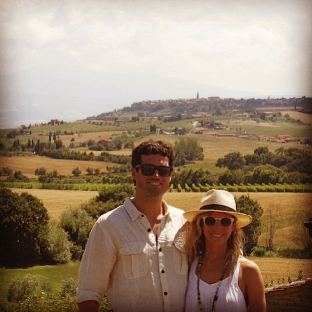 Pienza and the Val d' Orcia make @mcelberts and I look good - these #tuscany views just don't want to quit #italy #pienza #wanderlust #travel #exploremore #eurotrip