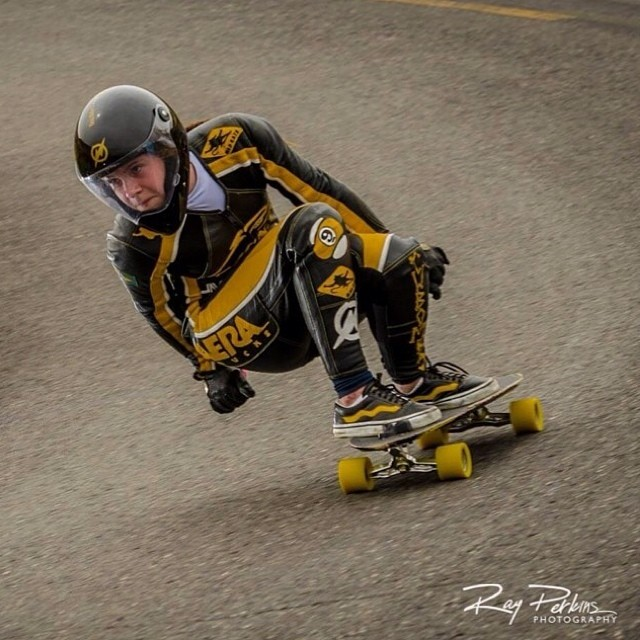 @georgiabontorin in killer mode. Ray Perkins photo #longboardgirlscrew #girlswhoshred