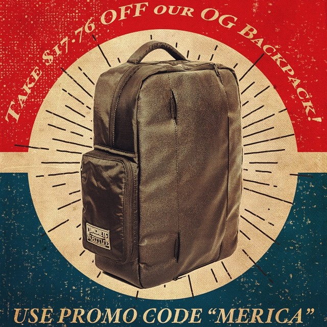 In honor of the 4th, we are offering a $17.76 discount on our OG action sports backpack over at concretenative.com! All weekend long! Use promo code MERICA. #july4th #independenceday #welcometoearth #willsmith #sk8life #skatelife #longboardlife