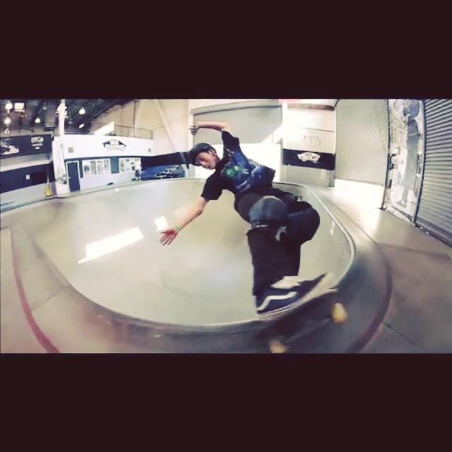 #creatureskateboards  @chrisrussell_mbk ripping #thecombi last year . #skateboarding #skatelife #skateallday #chrisrussell wears the #s1 #lifer #helmet