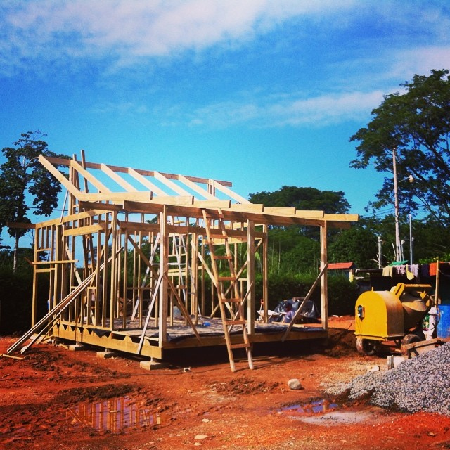 We've got a superstar construction team working with us to bring you the Bodhi Headquarters 2.0... it's going up super fast!