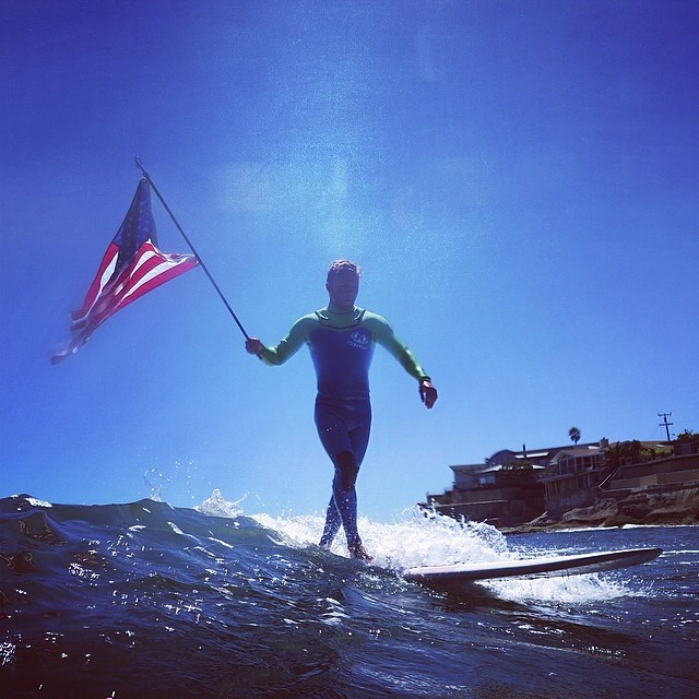 ~Happy 4th of July from Hotline! @deadendkid ~ #HotlineWetsuits #Fourth #SantaCruz #American #USA #Surf
