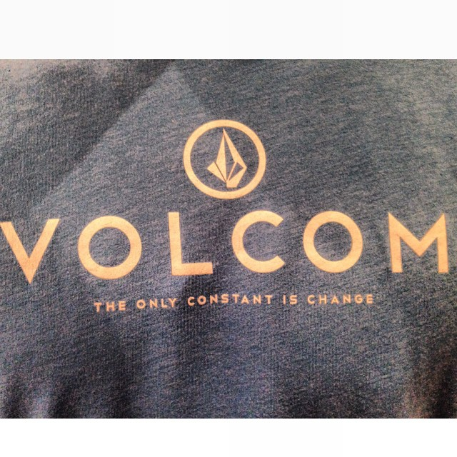 The only constante is change #volcom