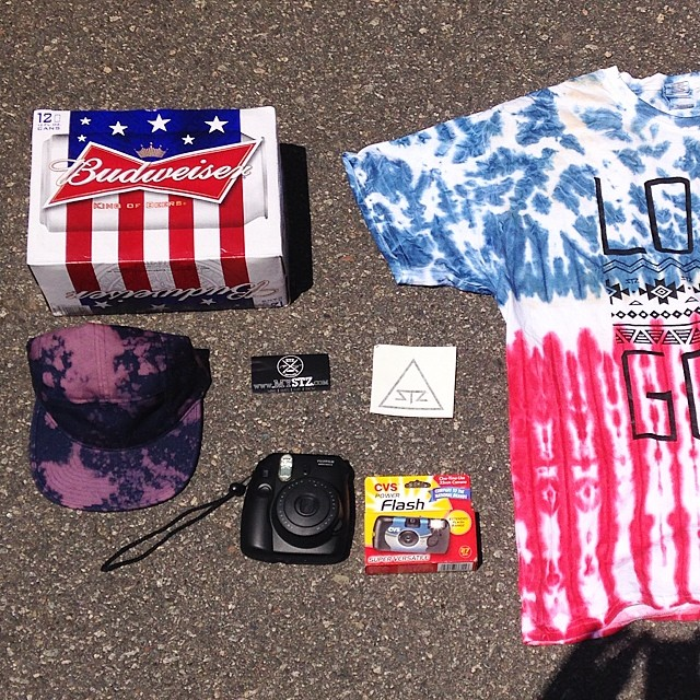 July 4th essentials // enjoy friends family and fireworks!! #merica #sendit #oldschool #disposablecamera #july4