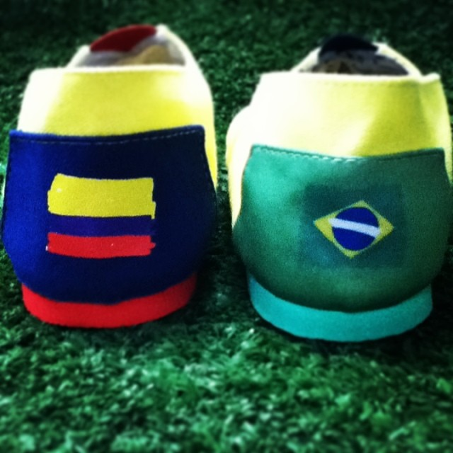 #VamosColombia or #VaiBrasil? Which team are you cheering for? Por cual alentas? #paezshoes #wecelebrate #worldcup