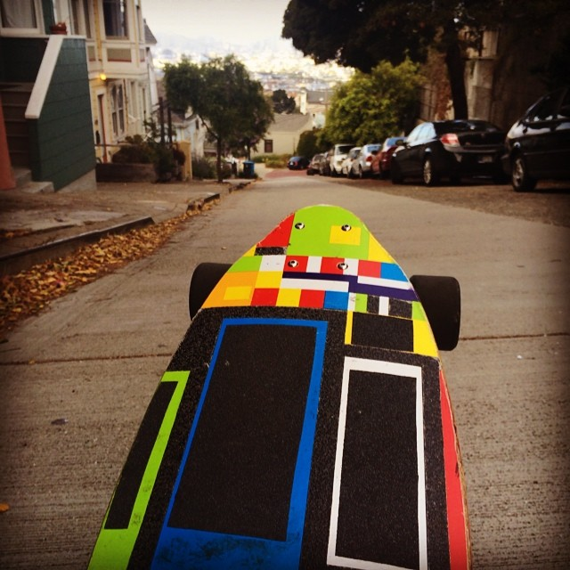 Aaaahhhhh the freedom!  I choose the direction I take my skateboard!  Happy 4th of July!  #bonzing #sanfrancisco #freedom #skateboarding