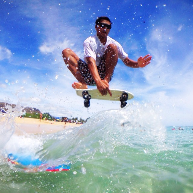 Freedom means you're allowed to skateboard on water. Happy 4th of July everyone!