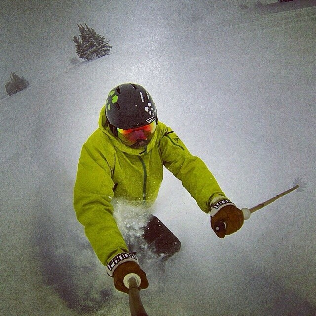 Yep. We always have skiing on the mind... Our hombre Jay Sanders usually has it on his mind too. This one's from a few months back... #TRIBEUP Jay!  Repost from @_thecolonel_  #PandaPoles #Panda_Cam