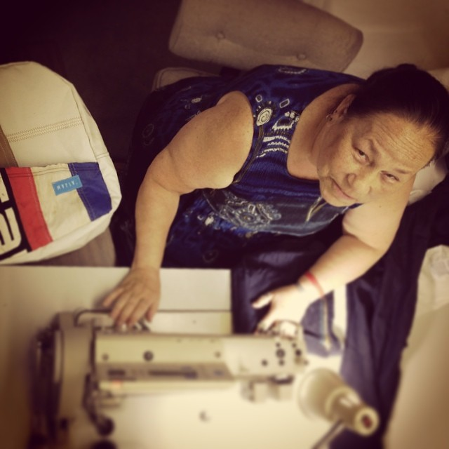 Meet Lynn ! Little does she know about #sailing, #surfing and the #wind.  She was born and raised in Santa Clara, CA . For the past 15 years she has been making uniforms for a big company until they #outsourced production to #asia. An empty work shop &...