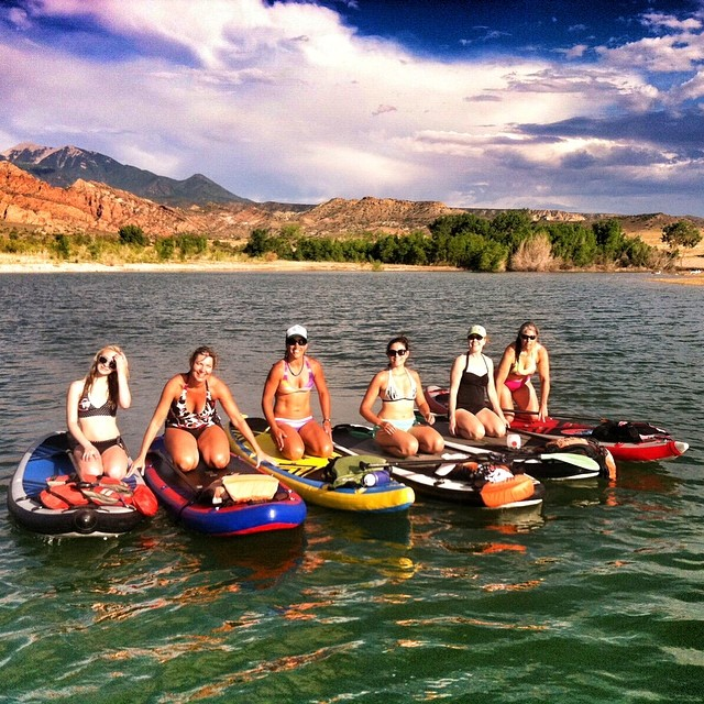 Ladies of the lake! Sup-a-stars! #sup #supyoga #standuppaddleboarding photo credit @theabominableheidimonster