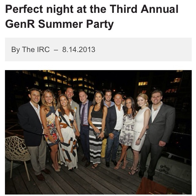 It was a perfect night at last year's GenR #Summer Party...get your tickets for this year's July 16th event here:  http://www.rescue.org/event/fourth-annual-genr-summer-party.  #events #party #nyc @theirc #dogood #rescue #genR #refugees @chefdavidburke...