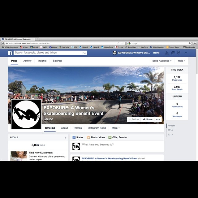 Stoked to have hit another milestone with Facebook fans! Help us keep growing and progressing women's skating - join the #EXPOSURE family at www.facebook.com/exposureskate. #skateboarding #skateboard #skate #skatelife #skatergirl #thankyouskateboarding