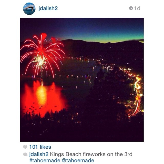 Congrats to @jdalish2 for winning this weeks Instagram photo contest. Great exposure of the fireworks this weekend in Kings Beach. (Jason, add us on Facebook and message us your shipping address and shirt size and be on the lookout for some gear) //...