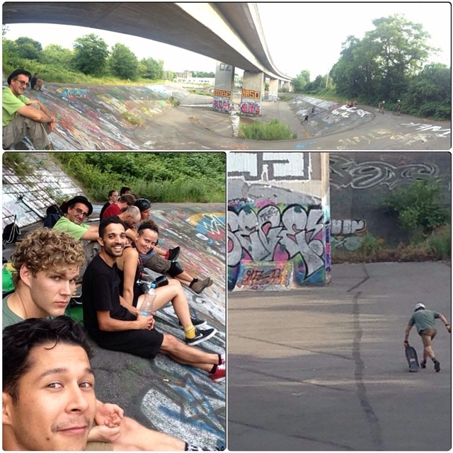 #WeOutHere in Hamburg ripping ditches and getting stitches. #LoadedBoards @danielfissmer @ethancochard @whoisadamcolton @lotfiwoodwalker #orangatang