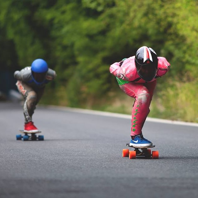 Finally! Go to www.longboardgirlscrew.com and check our girl @glorifiziert going fast in Czech Republic. Our #longboardgirlscrew Austrian ambassador kicks ass. Marek Štefech photo #girlswhoshred #gnarly #killingit