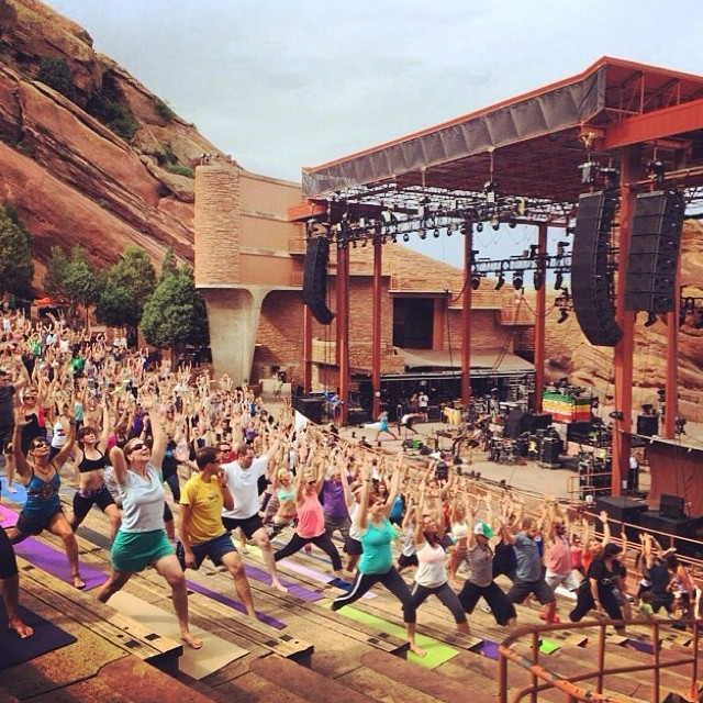 Regram from @yogajournal from Red Rocks. Beautiful!