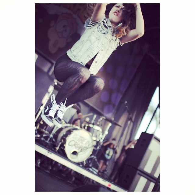 Taylor Jardine, de We Are the In Crowd, también usa #sk8hi