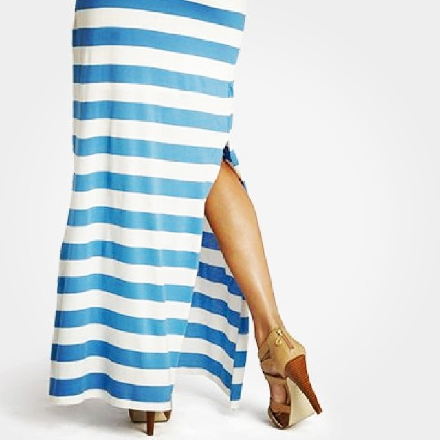 Just the kind of #mondayblues we like. #nautical #stripes #maxi #style #inspo #womens #summer #fashion