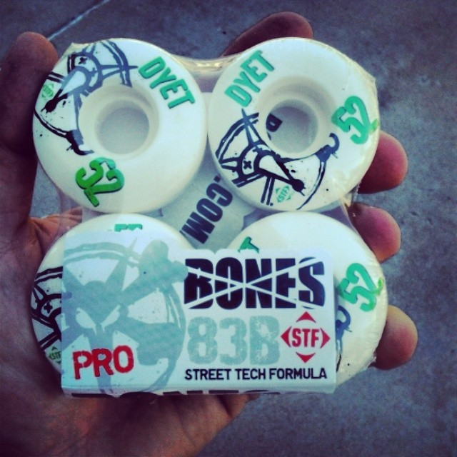 Check the Skatestart Facebook page to find out how to win the fast a** wheels. #Skatestart #stf #dyet #boneswheels