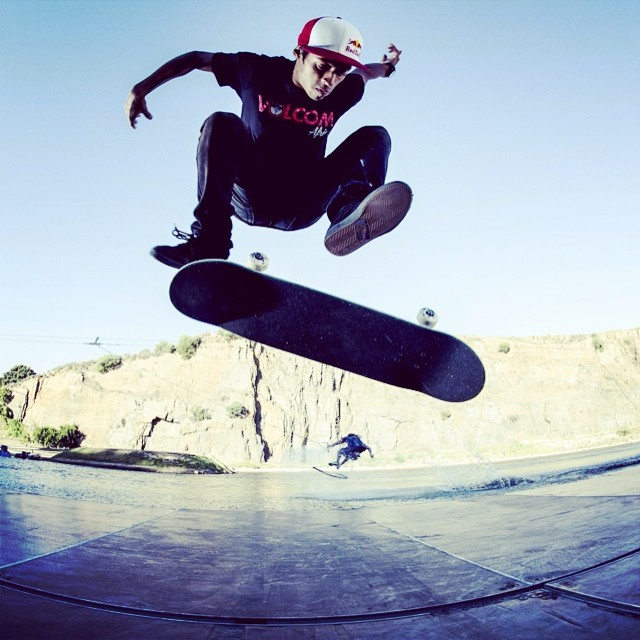 Step on. @jeanmarskate and Matti Buys in Game of Skate. #skate #wakeboarding