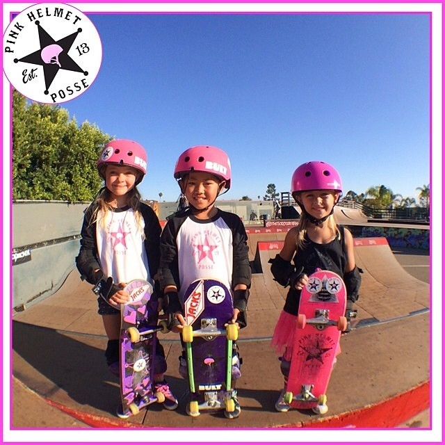 The @pinkhelmetposse runs #BULThelmets Keep shredding girls!!! #BULT