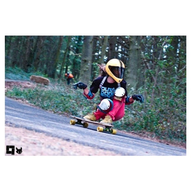 Longboard Girls Crew French rider Lyde Begue got some serious style. Photo cred? #longboardgirlscrew #girlswhoshred