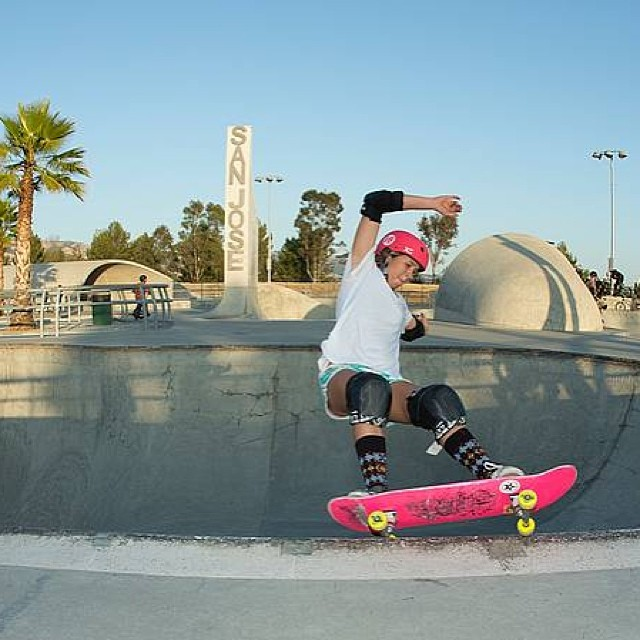 @jordynbarratt when she's not surfing or playing beach volleyball #athletic #skate #skateboarding #xshelmets