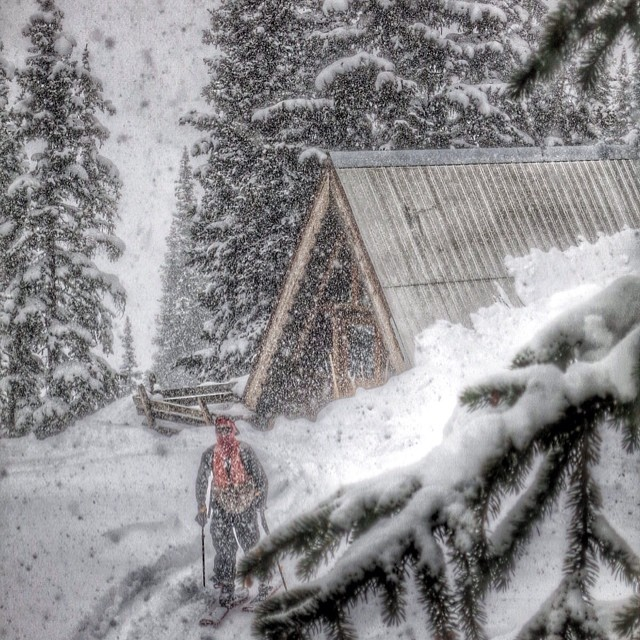Athlete Colter Hinchliffe is #notoverit. Who has a hut trip planned for next winter? #trewteam #trewlife