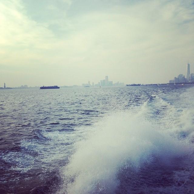 Lady Liberty far left.... Freedom Tower far right.... #lovematuse #'Merica