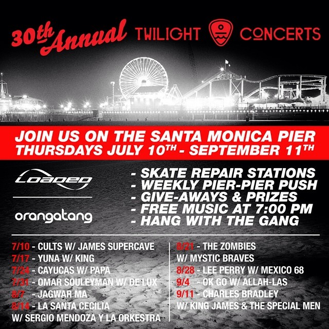 Join us at the @santamonicapier every Thursday through Sept. 11th for the summer #twilightconcerts!