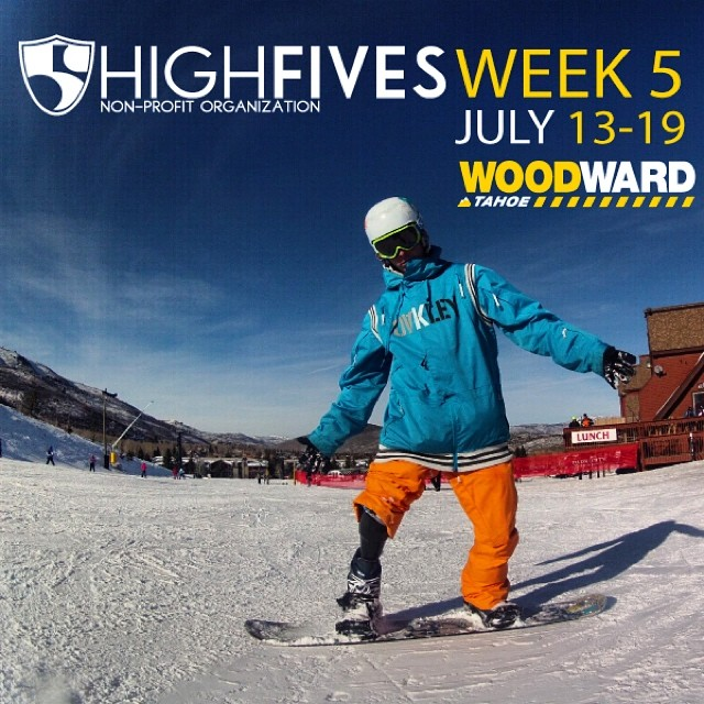 Help support #HighFivesAthletes, use the promo code FIVES14 and $50 will be donated to the @hi5sfoundation for @woodwardtahoe Week 5! Register today at woodwardtahoe.com #woodward2014 #wwtweek5