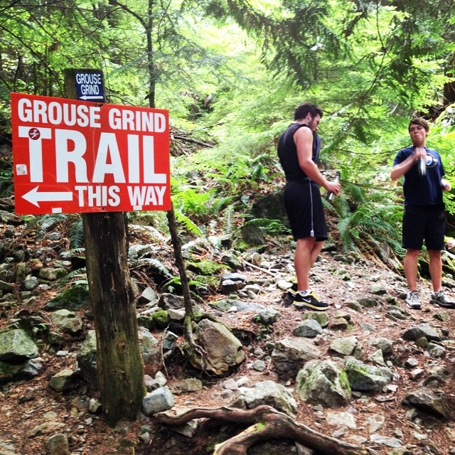 Screw that sign. We made our own trail today!  #mountainclimbing  #adventure  #dontgowiththeflow  #findyourownway  #producttesting #nosweatyballs #permissiontoplay