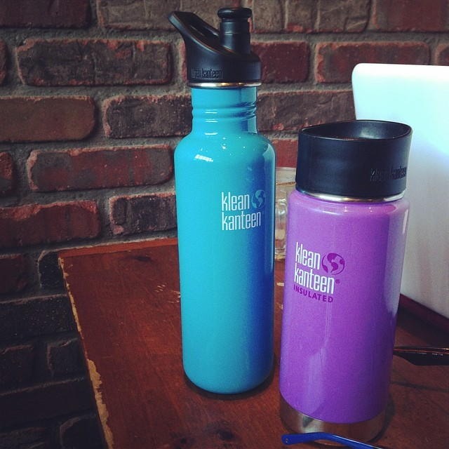 staying hydrated ((with help from our buds at @kleankanteen))