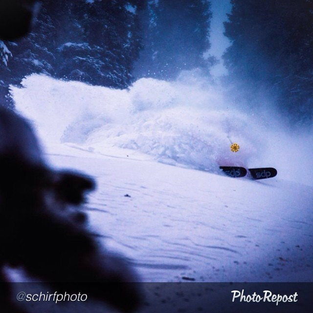 "#tbt to cooler times in the Wasatch. #dpsskis Koala, Drew Petersen getting snow in his face. RT @schirfphoto ""Throwback Thursday to @drewpeterski getting lost in the white room at @altaskiarea. @dpsskis"""