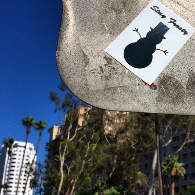 Stay Frosty #LongBeach. #frostyheadwear #streetart
