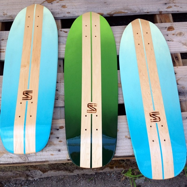 Trying out a couple new fades today. #handmade #skateboards #nashville #surfnashville #keepdiscovering
