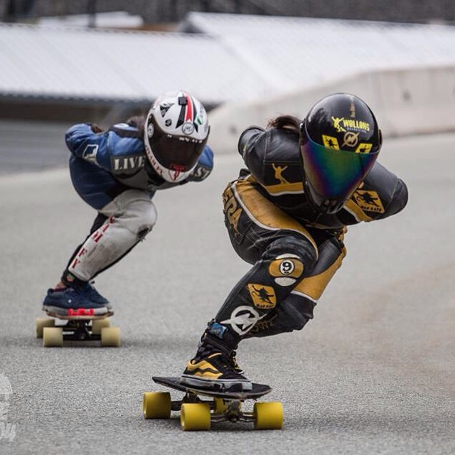 Sick shot by @skatethe6o4 from Ching Ho & @georgiabontorin during #whistler Have a great weekend family! #longboardgirlscrew #girlswhoshred
