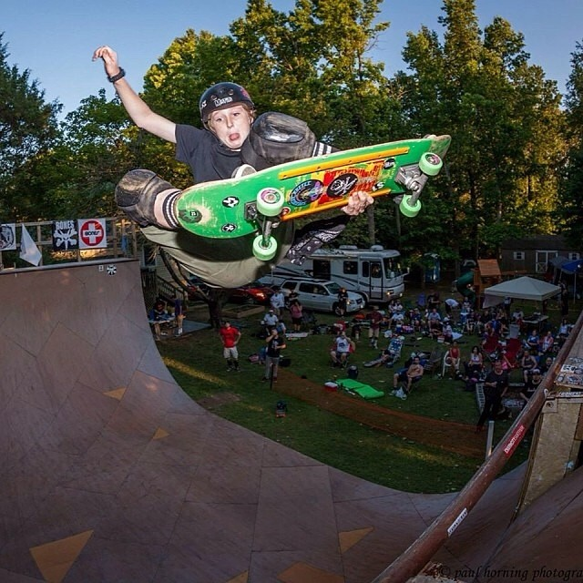 @wyattwisenbaker #stalefish #map2014 #skatephoto captured by @paulhorning . Wyatt wears the S1 Lifer Helmet. #skateboarding #skatevert #backyardvertramp #extravaganza @cockfightskateboards @speedlabwheels #s1helmets
